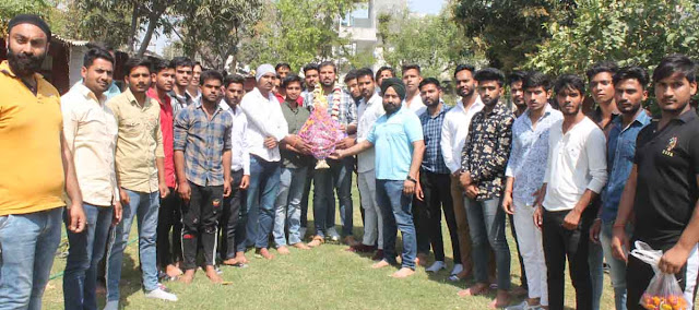 Haryana Yuva Commission Chairman Yadavindra Singh Sandhu, students of various colleges took keen reception
