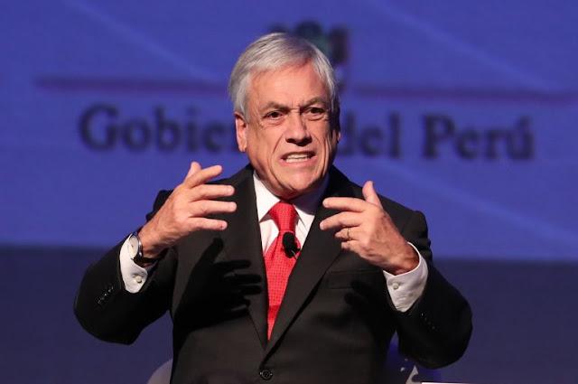 """Sebastián Piñera criticó este lunes el """"exceso"""" de ideología que llevó al """"fracaso"""" de UNASUR."""