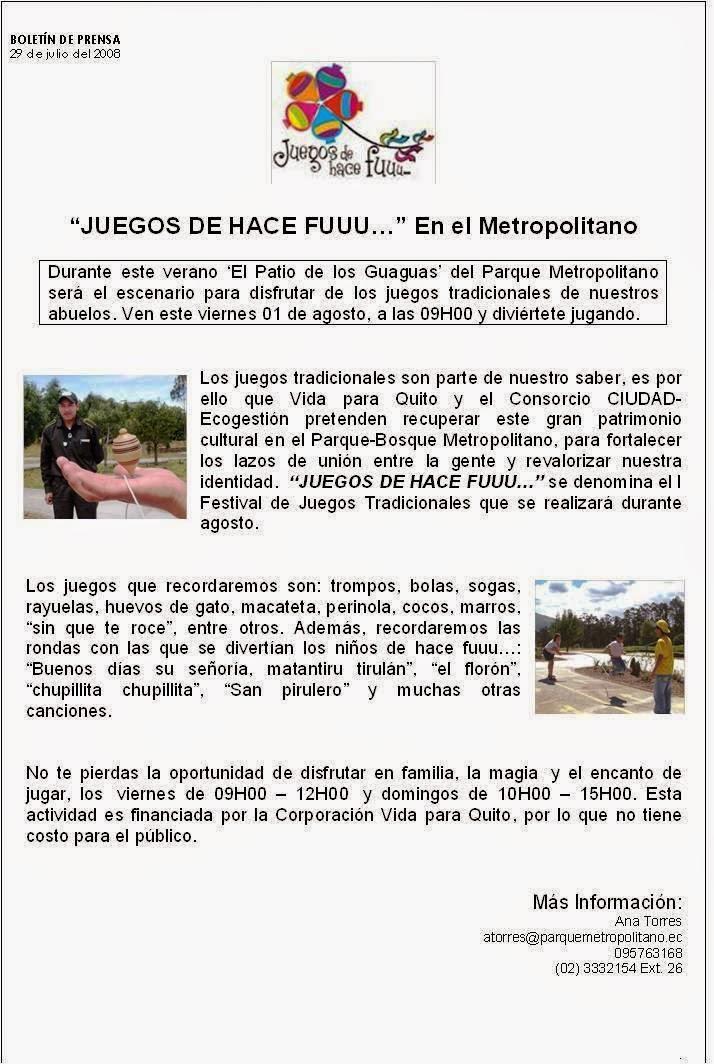 """Mario Vásconez  Ecuador 61  """"Los Juegos de Hace Fuuu…"""" en el Parque ... 4639d1d416b"""