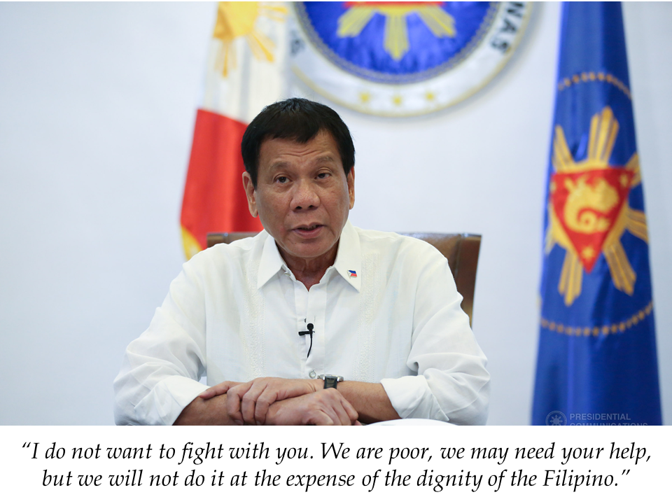 "President Rodrigo Duterte appealed to Kuwait and other Middle Eastern countries to treat Filipino workers ""as human beings""  amid reports of maltreatment and abuses, resulting in deaths of some OFWs. If this would continue, he is ready to order the pull-out of the OFWs from Kuwait.  Before he left  for New Delhi for the ASEAN-India Special Commemorative Summit, Duterte , in his pre-departure speech said the appeal for humane treatment for Filipinos working in the Middle East , Kuwait in particular.  Duterte's statement was applauded by those present in the event.  Duterte also reiterated that he doesn't want any quarrel with Kuwait or other Middle Eastern countries but he can't afford to hear another report of abuse, if he does, he will impose total deployment ban.   Sponsored Links     There is an estimated 260,000 Filipino workers in Kuwait, 170,000 of them are working as household service workers (HSWs), the most vulnerable and prone to abuses among OFWs.   Last week, the Department of Labor and Employment (DOLE) Secretary Silvestre Bello III suspended the issuance of OEC for newly hired OFWs to Kuwait pending investigation on the deaths of seven Filipino workers there.   Sami Abdulaiz Al Hamad, Assistant Foreign Minister for Consulate Affairs Ambassador, has met with Philippine Ambassador to Kuwait Renato Pedro Villa Jr. to request for the lifting of the suspension.  Source: GMA  President Rodrigo Duterte appealed to Kuwait and other Middle Eastern countries to treat Filipino workers ""as human beings""  reports of maltreatment and abuses, resulting in deaths of some OFWs. If this would continue, he is ready to order the pull-out of the OFWs from Kuwait.  ""Can I ask you now just to treat my countrymen as human beings with dignity,"" Duterte, who is bound for New Delhi for the ASEAN-India Special Commemorative Summit, said during his pre-departure speech at the Ninoy Aquino International Airport.   Duterte's statement was met with applause from those present in the event.  ""I do not want to fight with you. We are poor, we may need your help, but we will not do it at the expense of the dignity of the Filipino.""  Before Duterte made the remark, he acknowledged the presence of Foreign Affairs Secretary Alan Peter Cayetano, who will join him in India. ""I hope I am not committing a diplomatic faux pas,"" hesaid.  He also reiterated his warning of a total deployment ban to Kuwait if he hears another tale of abuse. Sponsored Links  ""And I'm sorry, the Filipinos there, you can all go home. Tutal 'pag na — nag-alis kayo lahat na mga Pilipino diyan, they will also be having a hell of a time adjusting to that,"" he said.  ""Hindi ako papayag na… a continuous incident of things like that. They have to endure rape, they have to endure starvation, and they get about only four hours — that's a universal story for all Filipinos,"" Duterte added.  An estimated 10 million Filipinos work overseas, majority of them in the Middle East, and the money they send home helps spur economic growth. In Kuwait, there is an estimated 260,000 Filipino workers, 170,000 of them employed as household service workers (HSWs), who are considered vulnerable and prone to abuses.  Last week, the Department of Labor and Employment (DOLE) suspended the deployment of newly hired OFWs to Kuwait pending investigation on the deaths of seven Filipino workers there.  Labor Secretary Silvestre Bello III ordered the suspension a day after Duterte said he is mulling banning the deployment of OFWs to Kuwait amid reports of maltreatment.  On Wednesday, Duterte said he will ""never again"" tolerate another incident of a Filipino worker getting raped abroad.  ""I hope that you'd listen to me because I mean well, but I will never, never, never again tolerate another incident of rape to the point of committing of suicide, jumping out the window. That is something the Filipino people cannot stomach,"" he said.  ""If I can't do something about it, then there's no reason for me to stay in this position any minute longer,"" Duterte added.  Sami Abdulaiz Al Hamad, Assistant Foreign Minister for Consulate Affairs Ambassador, has met with Philippine Ambassador to Kuwait Renato Pedro Villa Jr. to request for the lifting of the suspension. Source: GMA      Read More:  10 Reasons Why Filipinos Love Canada  Comparison Of Savings  Account In The Philippines:  Initial Deposit, Maintaining  Balance And Interest Rates  Per Annum   Mortgage Loan: What You Need To Know    Passport on Wheels (POW) of DFA Starts With 4 Buses To Process 2000 Applicants Daily    Did You Apply for OFW ID and Did You Receive This Email?    Jobs Abroad Bound For Korea For As Much As P60k Salary    Command Center For OFWs To Be Established Soon   ©2018 THOUGHTSKOTO  www.jbsolis.com   SEARCH JBSOLIS, TYPE KEYWORDS and TITLE OF ARTICLE at the box below   Read More:  10 Reasons Why Filipinos Love Canada  Comparison Of Savings  Account In The Philippines:  Initial Deposit, Maintaining  Balance And Interest Rates  Per Annum   Mortgage Loan: What You Need To Know    Passport on Wheels (POW) of DFA Starts With 4 Buses To Process 2000 Applicants Daily    Did You Apply for OFW ID and Did You Receive This Email?    Jobs Abroad Bound For Korea For As Much As P60k Salary    Command Center For OFWs To Be Established Soon   ©2018 THOUGHTSKOTO  www.jbsolis.com   SEARCH JBSOLIS, TYPE KEYWORDS and TITLE OF ARTICLE at the box below"