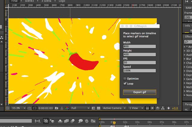 تحميل سكربت عمل صور gif المدهش لبرنامج الأفترإفكت - GIF Magick After Effects Script
