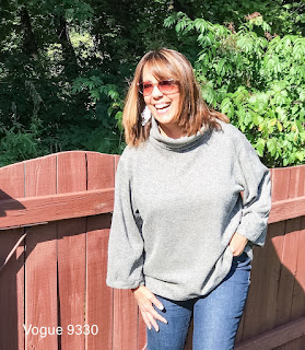 Vogue 9330 Loose Fitting Pullover Top Review on Sharon Sews sewing blog