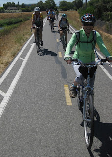 Riders on the trail, Sunnyvale, California