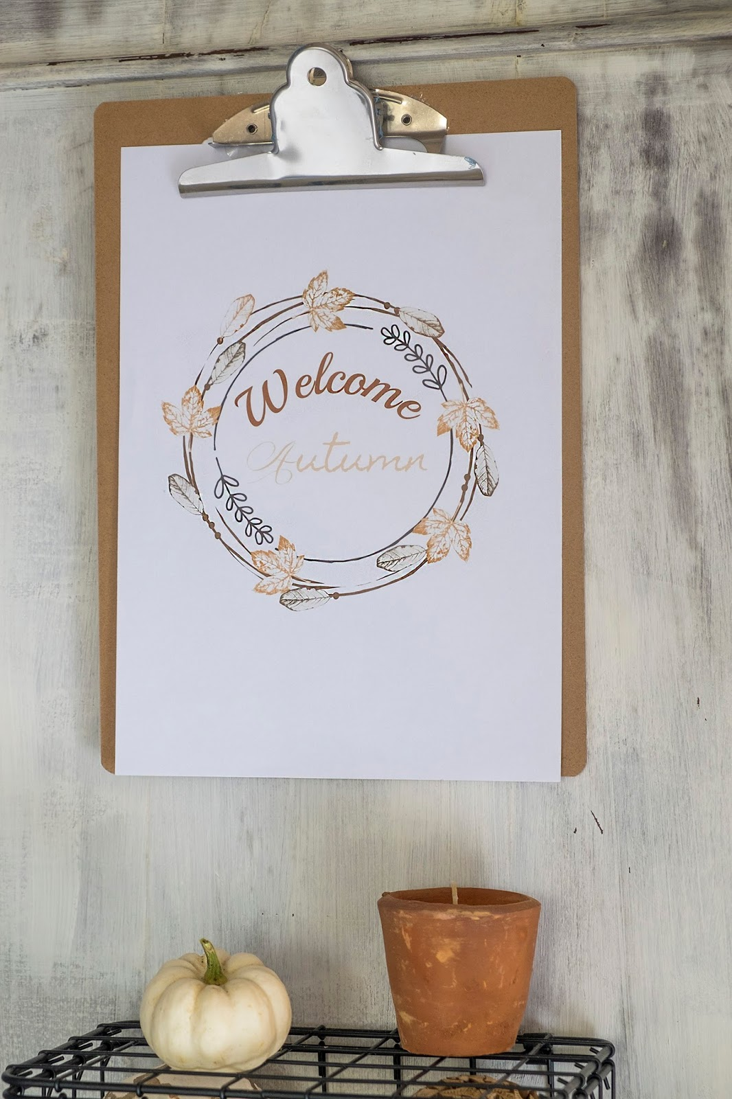 Welcome Autumn, Free Printable - Interieur ideeën
