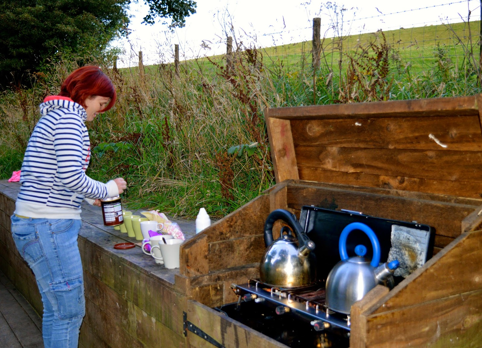 Westwood Yurts | Glamping at National Trust Gibside, County Durham - A Review - hot chocolate station