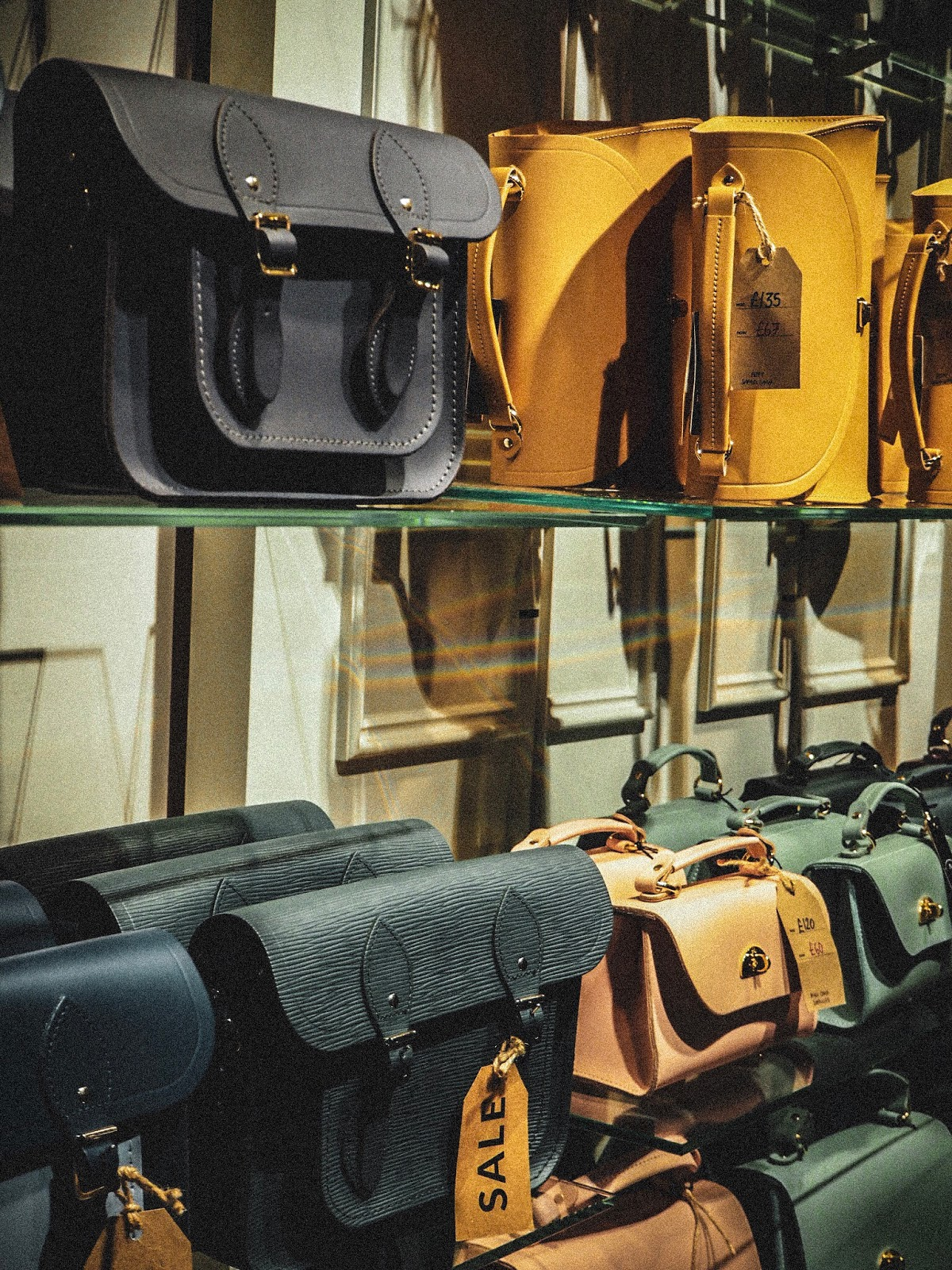 A shot of Cambridge Satchels in-store