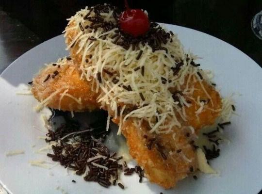 Resep Pisang Goreng Crispy Coklat Keju, Cara Membuat Pisang Goreng Crispy Coklat Keju