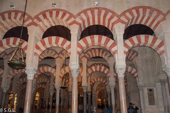 Interior de la Mezquita de Cordoba
