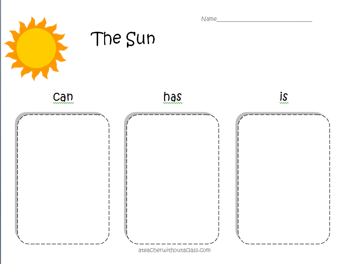 solar system graphic organizer - photo #8