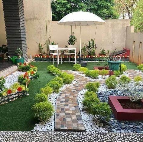 Taman depan rumah konsep minimalis