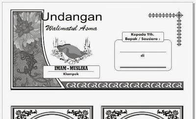 Download Gratis Contoh Undangan Walimatul Asma Fotocopy