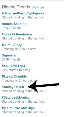 Sunday Oliseh starts trending on Twitter after Shuaibu Amodu's death
