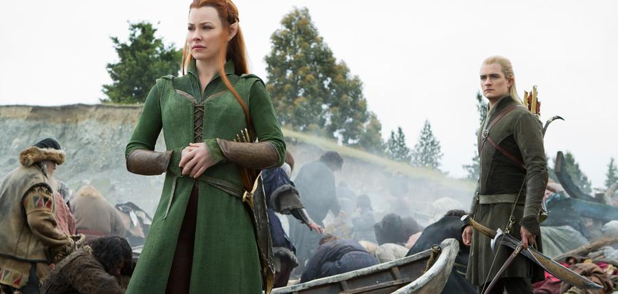 Tauriel şi Legolas în Hobbitul: Bătălia Celor Cinci Oştiri