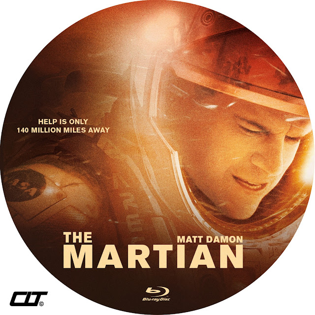 The Martian Bluray Label