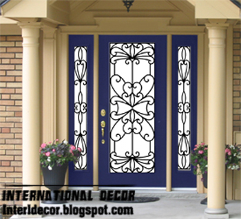 Wrought Iron Glass French Door