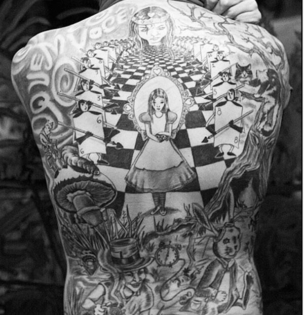 Alice In Wonderland Tattoos: Curiouser In Wonderland: Alice's Tattoos