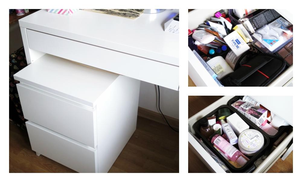 Toaletka i sposób na przechowywanie kosmetyków