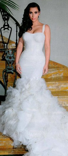 Fashion Beauty Glamour: Kim's 3 wedding dresses by Vera Wang