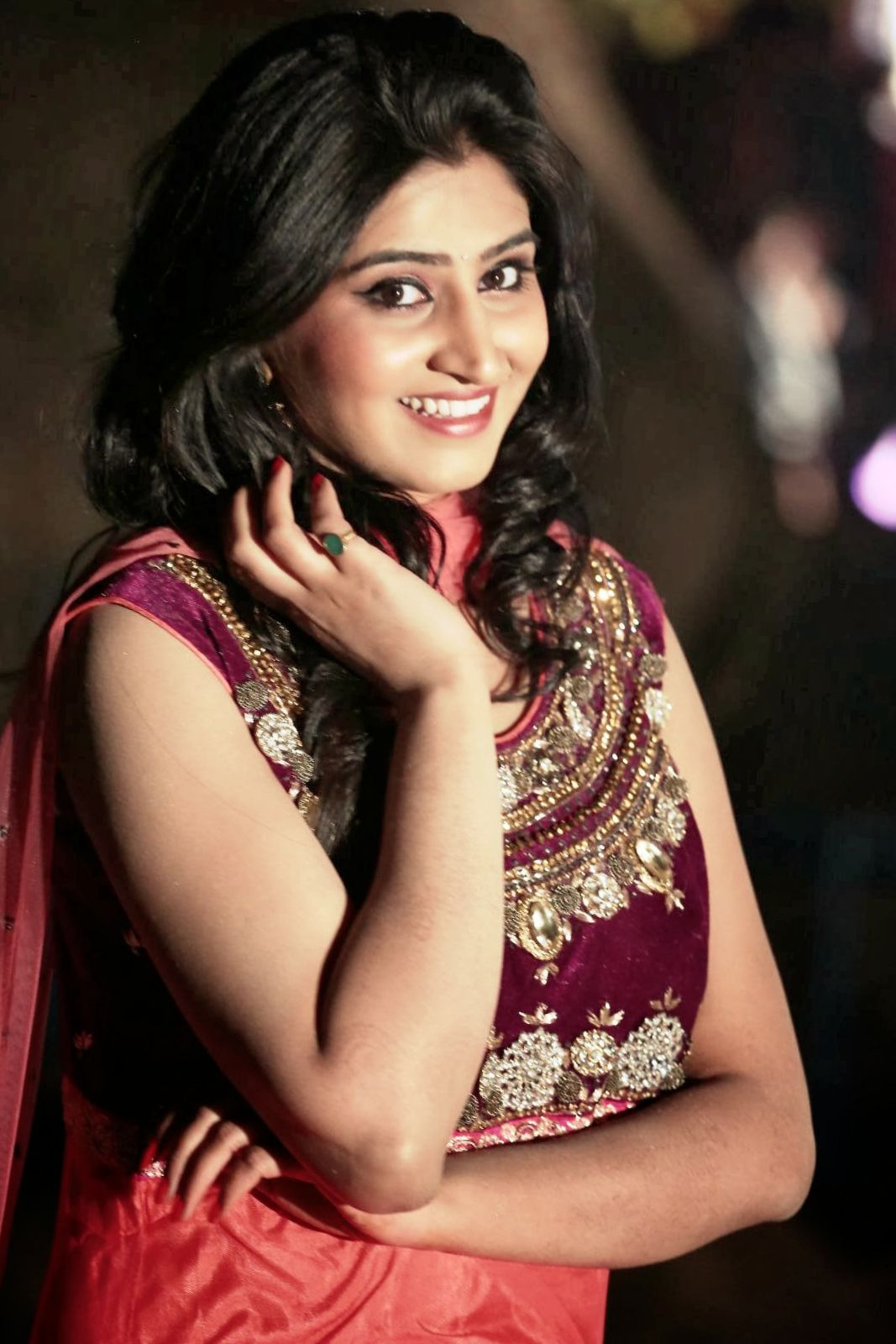 Actress Shamili Hot Photos In Red Dress