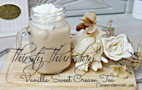 Vintage, Paint and more... One More Time Events Vanilla Sweet Cream Tea
