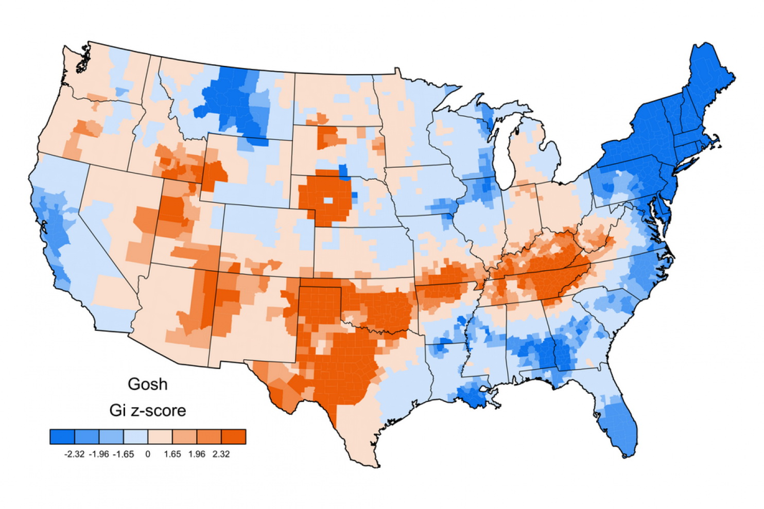 "Americans aversion to swearing: prevalence of the word ""Gosh"" in tweets by county"