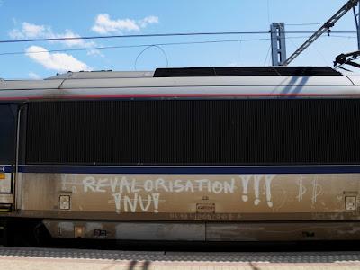 Graffiti pour la revalorisation de la fonction de conducteur de train