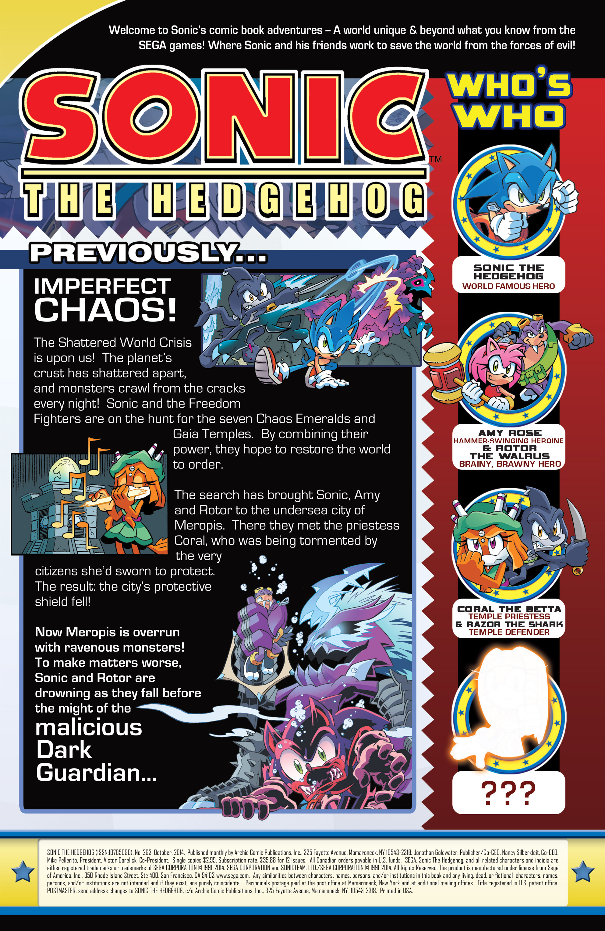 Read online Sonic The Hedgehog comic -  Issue #263 - 2