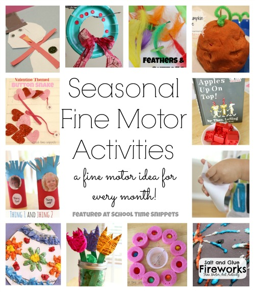 A fine motor activity to do each month!  Love these ideas!