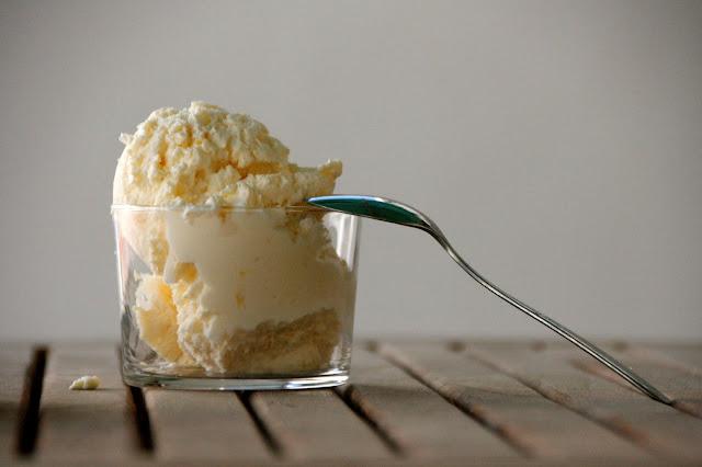 Helado de limon cremoso sin heladera