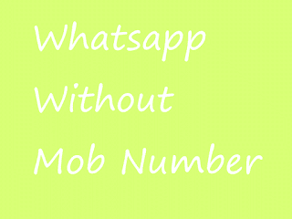 Whatsapp messenger with no number