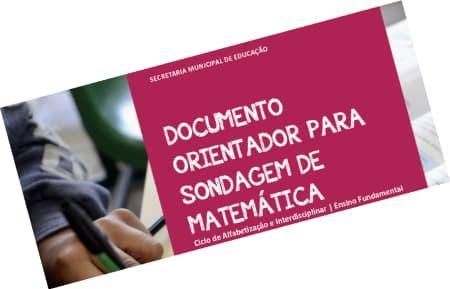 Documento Orientador para Sondagem de Matemática