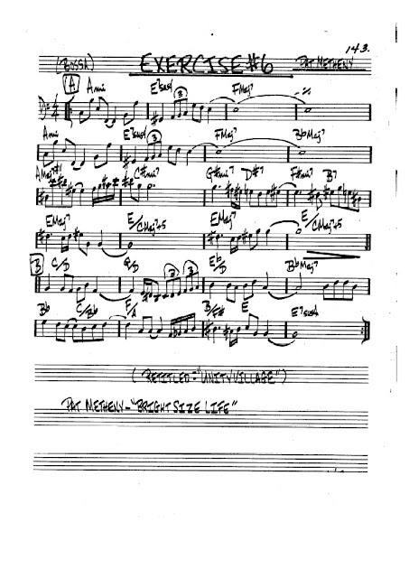 Partitura Violonchelo Pat Metheny