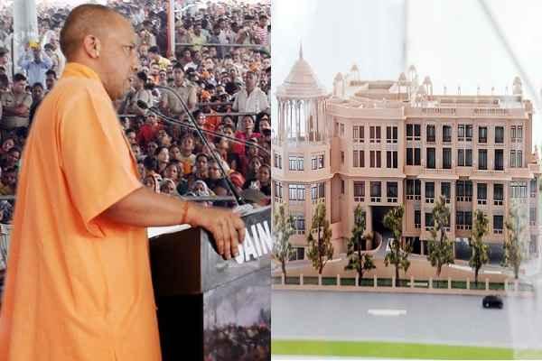 yogi-adityanath-laid-foundation-stone-kailash-mansarovar-bhawan