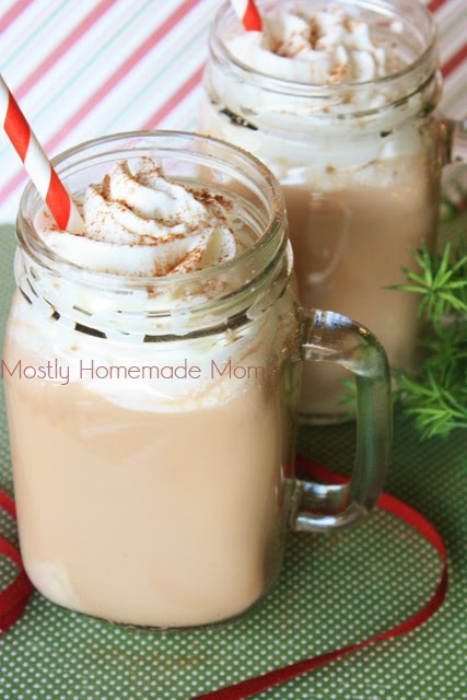 Chocolate Eggnog {Mostly Homemade Mom}