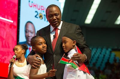 President Kenyatta on Jubilee manifesto launch. PHOTO | File