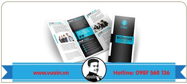 mẫu thiết kế brochure của vuain.vn