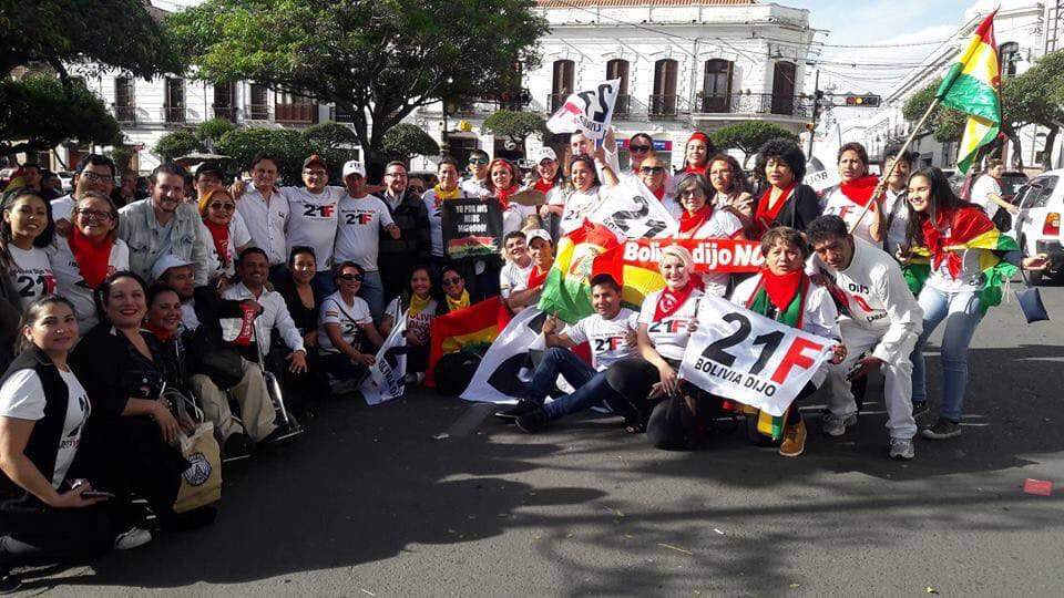 Plataformas de todo el país ya preparan su viaje a Sucre FACEBOOK DALVA CESAR REYES