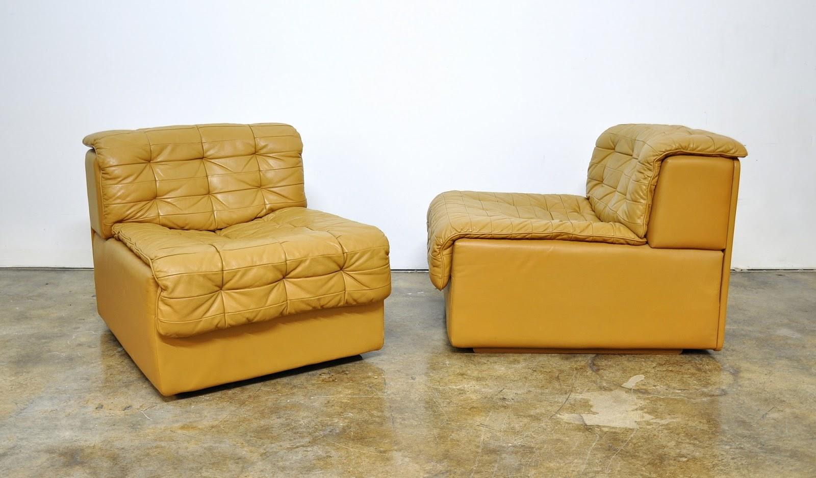 Select Modern Pair Of De Sede Ds 11 Caramel Leather