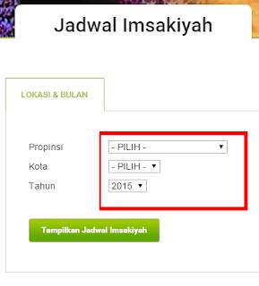JAdwal Ramadhan 2015 Tampilan awal