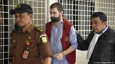 A court in Indonesia on Monday sentenced Frenchman Felix Dorfin for drug trafficking.