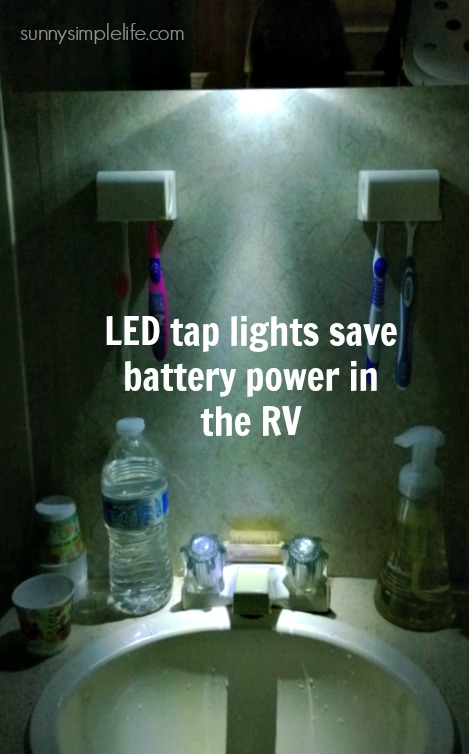 LED tap lights for the RV