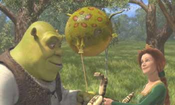 shrek frog balloon