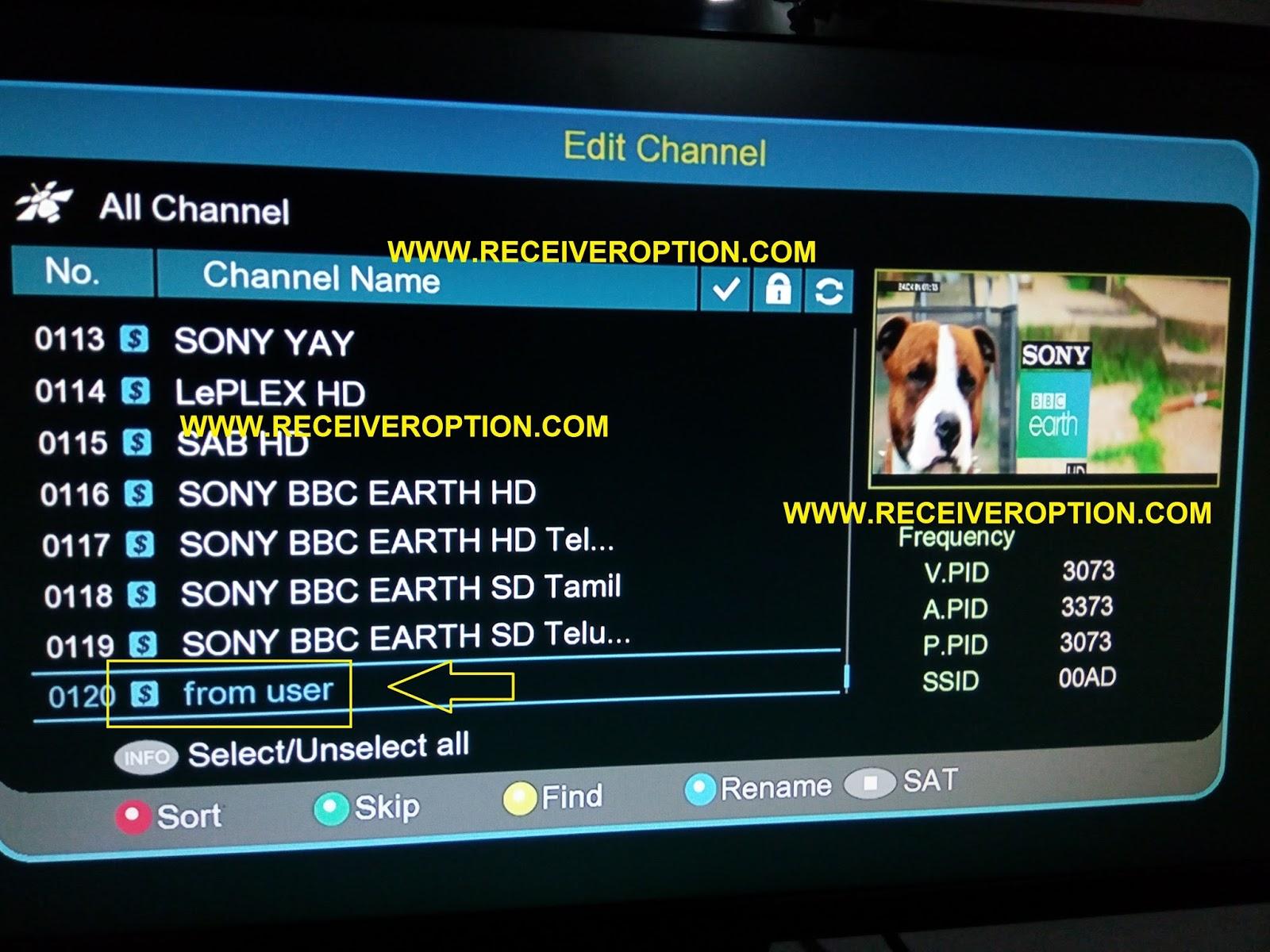 ECHOLINK 770D HD RECEIVER POWERVU KEY OPTION - HOW TO ENTER