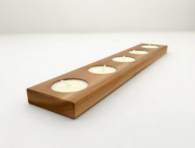 Tea Light Holder Modern Reclaimed Wood