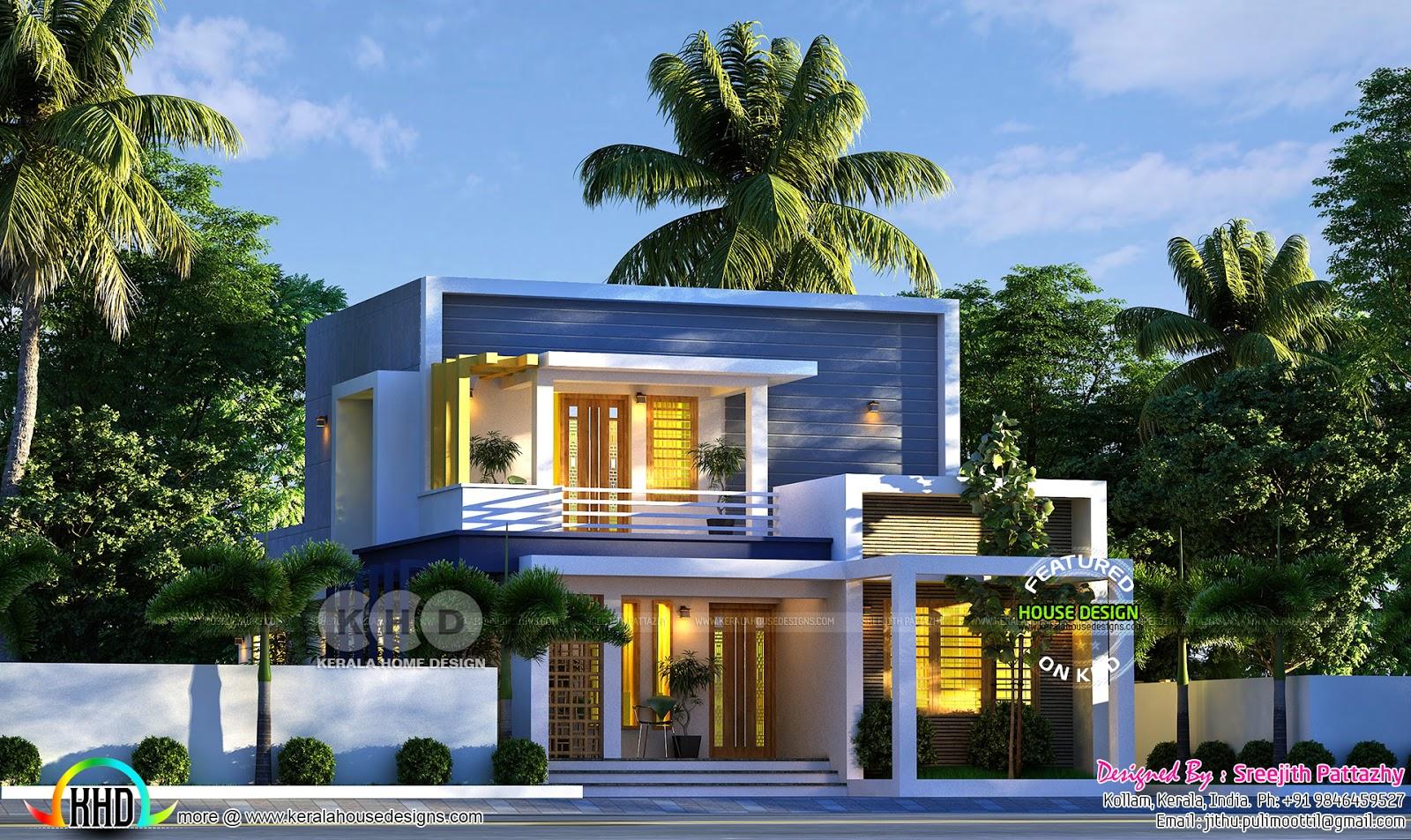 3 Bedroom Flat Roof Contemporary Residence Rendering Kerala Home Design Bloglovin