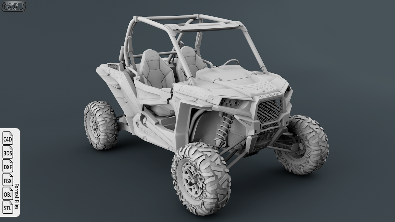 Polaris Ranger RZR 1000 3D Model