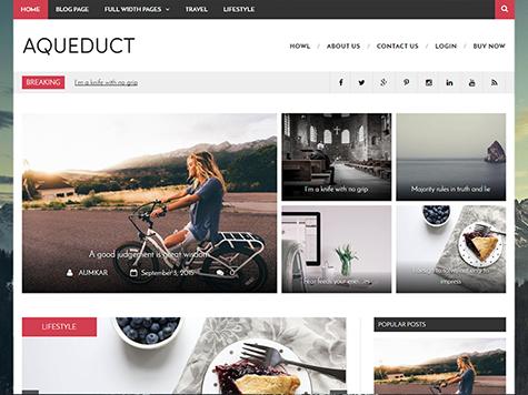 Aqueduct Free Magazine WordPress Theme