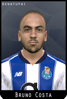 PES 2017 Faces Bruno Costa by Dewatupai