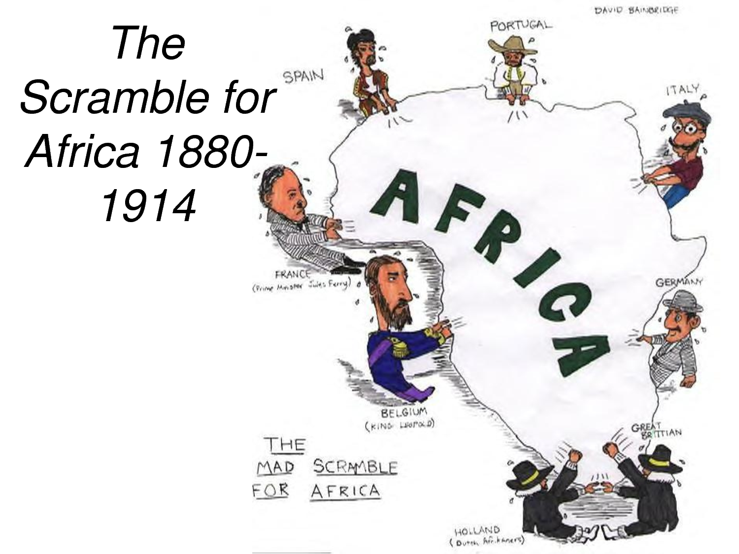 Factors Which Led The Scrambled And Partition Of Africa