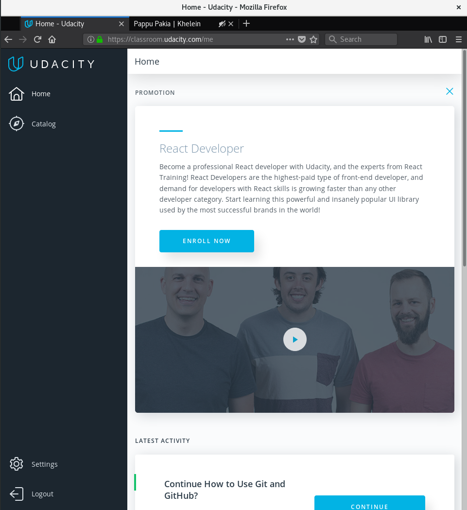 How to Use Git and GitHub Self-Paced Course at Udacity